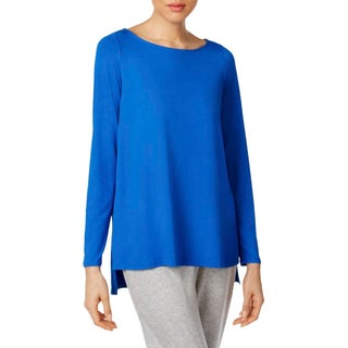 Eileen Fisher Womens Petites Pullover Top Long Sleeves Hi-Low - pl
