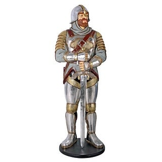 Design Toscano Medieval Knight of the Round TableLife-Size Statue