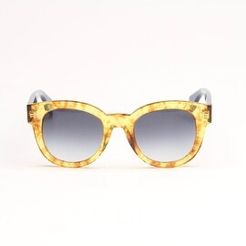 Vintage Amber And Blue Sunglasses With Grey Gradient Lens