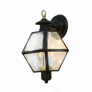 "Norwell Lighting 1063 Old Colony 2 Light 15"" Tall Outdoor Wall Sconce with Clear Glass Shade (2 options available)"