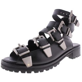 Bronx Womens Ultra Fast Strappy Sandals Leather Buckle