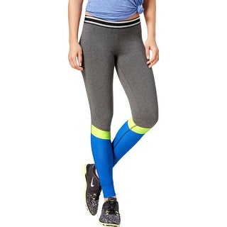 Material Girl Womens Juniors Athletic Leggings Ponte Colorblock