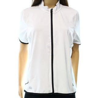 Lauren Ralph Lauren NEW White Women's Size Large L Active Jersey Jacket