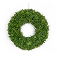 Pack of 2 Green Artificial Christmas Pine Wreath Party Decorations 22""