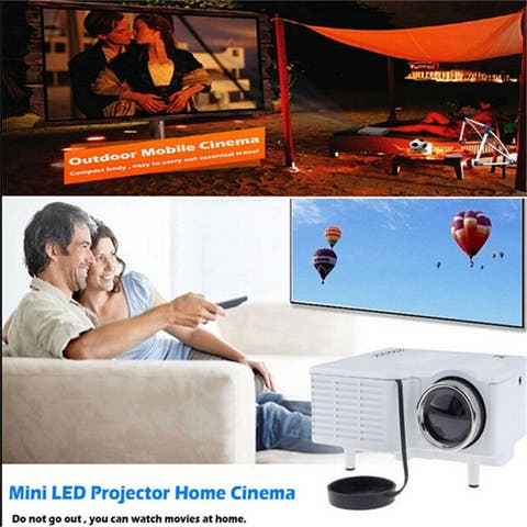 Portable mini Projector HD1080P Home LED Theater projector 110V 220V - White