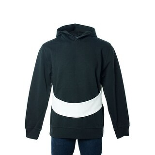 Givenchy Mens Black Pure Cotton Adjustable White Band Hoodie