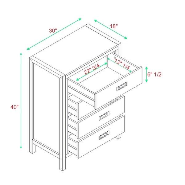 Carson Carrington Modern 4-Drawer Storage Chest