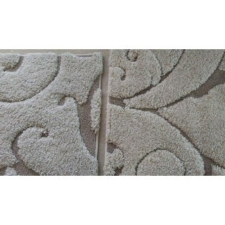 Safavieh Florida Shag Scrollwork Elegance Cream/ Beige Rug (4' x 6')