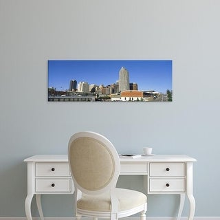 Easy Art Prints Panoramic Images's 'Buildings in a city, Raleigh, Wake County, North Carolina, USA' Premium Canvas Art