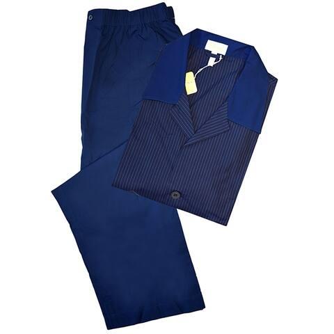 Brioni Mens Navy Blue Striped Striped Pajamas