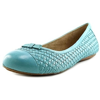 SoftWalk Womens Naperville Woven Leather Ballet Flats