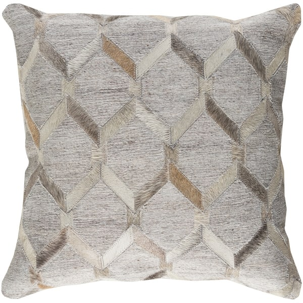 Decorative Schroeder Light Grey 18 Inch Throw Pillow Cover Overstock 23143382