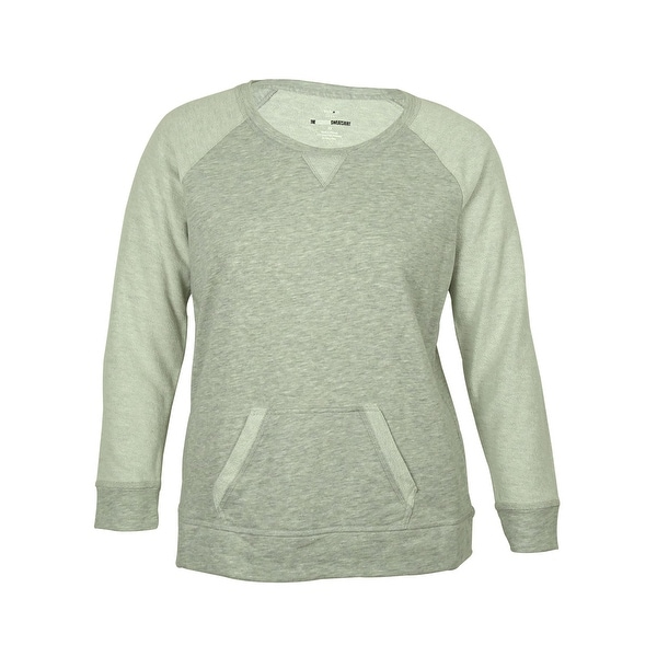 Style & Co Women's Contrast-Sleeve Sweatshirt