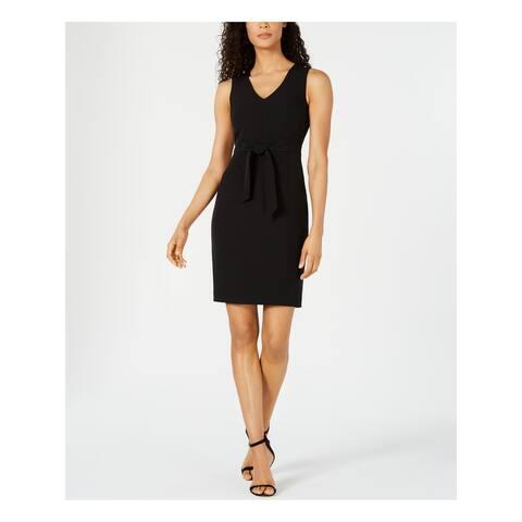 KASPER Black Sleeveless Short Sheath Dress Size 14