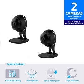 2 pack of SNH-V6414BMR - Samsung HD Plus WiFi IP Camera with 16GB microSD Card (Refurbished)