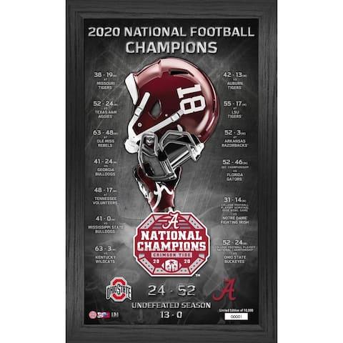 Alabama Crimson Tide 2020/21 Football National Champions Team Pride Pano - 12x20
