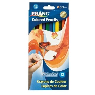 Prang Non-Toxic Pre-Sharpened Colored Pencil Set, 3.3 mm Smooth Tip, 7 in L, Assorted Color, Set of 12