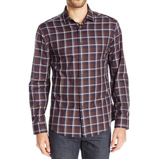 Vince Camuto NEW Coffee Brown Mens Size Medium M Button Down Shirt