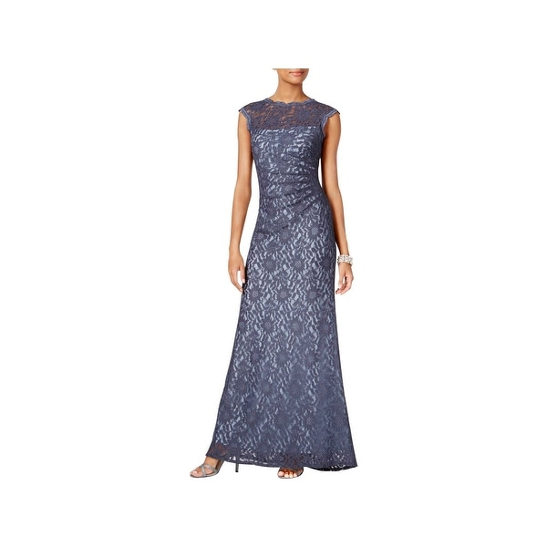 X by Xscape Womens Evening Dress Lace Full-Length