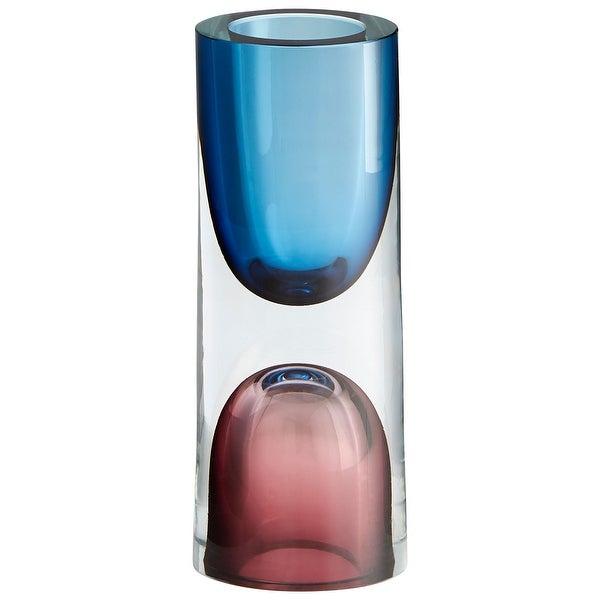 "Cyan Design 10019 Majeure 3-1/4"" Diameter Glass Vase - Rose / Blue"