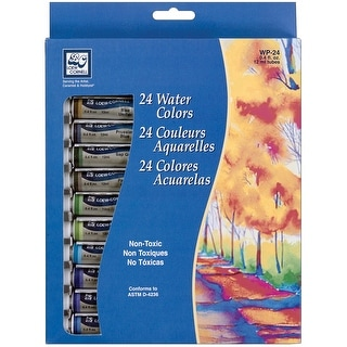 Watercolor Paints 12ml 24/Pkg-Assorted Colors