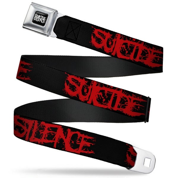 Suicide Silence Full Color Splatter Black White Suicide Silence Splatter Seatbelt Belt