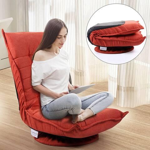 360 degree Swivel Game Chair 5-Position Adjustable Floor Lazy Sofa