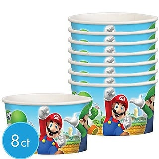 Super Mario Bros. Paper Party Treat Cups, 8 Pack - Multi