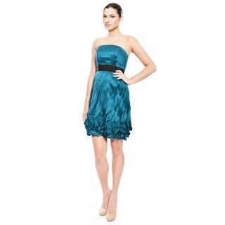 Phoebe Flirty Silk Ruffle Eve Dress