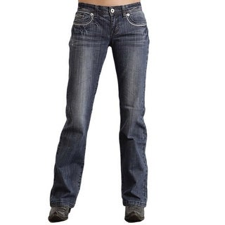 Stetson Western Denim Jean Womens Bootcut Med Wash
