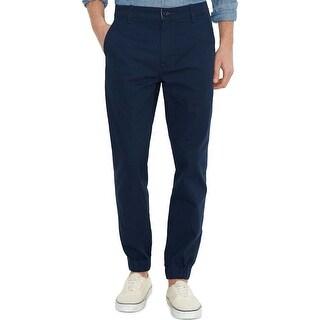 Levi's Regular Fit Stretch Navy Blue Chinos Jogger Pants 28 x 30