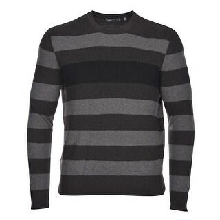 Vince Men's Crewneck Cashmere Sweater XX-Large XXL Brown Stripes