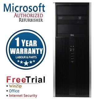 Refurbished HP Compaq 8000 Elite Tower Intel Core 2 Duo E8400 3.0G 8G DDR3 1TB DVD Win 7 Pro 64 1 Year Warranty - Black