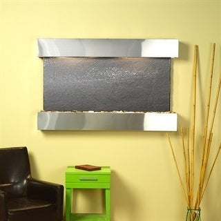 Adagio Sunrise Springs With Black Featherstone in Stainless Steel Finish and Squ