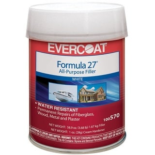 Evercoat 100570 Formula 27 All-Purpose Filler, White, 58.9 Oz
