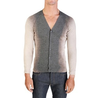 Prada Men's Cotton Button Up Acid Wash Cardigan