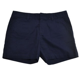 Tommy Hilfiger NEW Navy Blue Womens Size 12 Button-Front Khaki Shorts