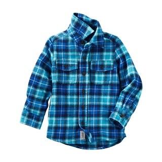 OshKosh B'gosh Little Boys' 2 Pocket Flannel Shirt, 5 Kids