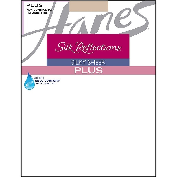 41b2cdb9f Shop Hanes Silk Reflections Plus Enhanced Toe Sheer Pantyhose - Size - 1P -  Color - Travel Buff - Nude - Free Shipping On Orders Over  45 -  Overstock.com - ...
