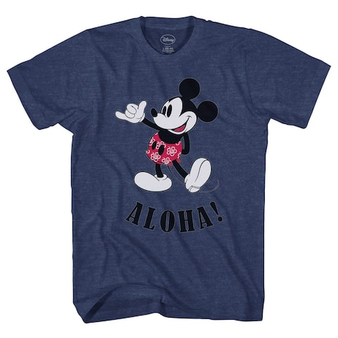 Disney Mickey Mouse Hawaii Aloha Mickey Men's T-Shirt