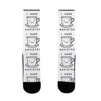 I Have Anxietea US Size 7-13 Socks by LookHUMAN