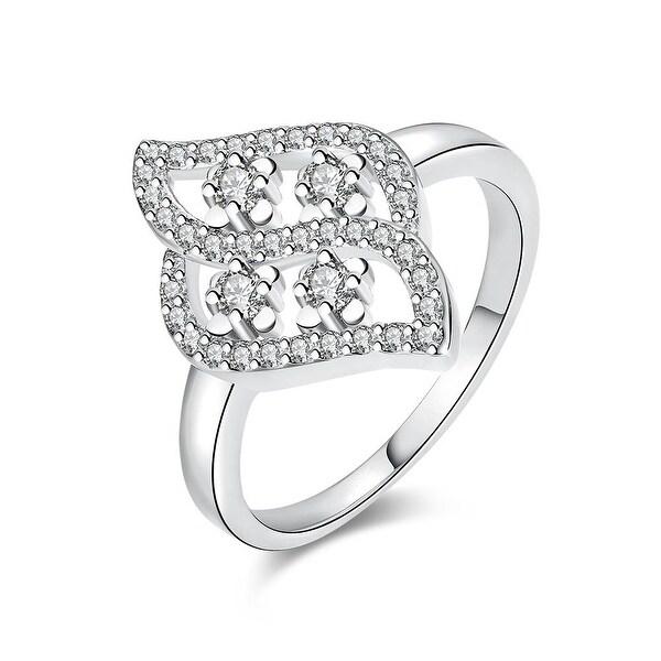Swivel Artistic White Gold Ring