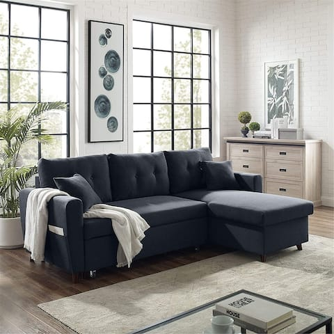 86.22'' L-Shape Corner Sofa , Reversible Sectional Sofa Couch with Chaise - 86.22