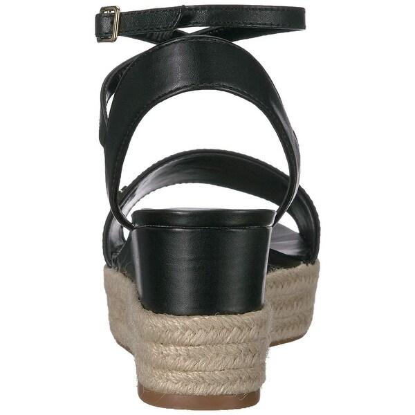 Delores Espadrille Wedge Sandal, Black