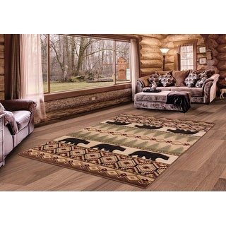 Link to Westfield Home Graham Bear Hollow Beige Hand-Carved Area Rug Similar Items in Rugs