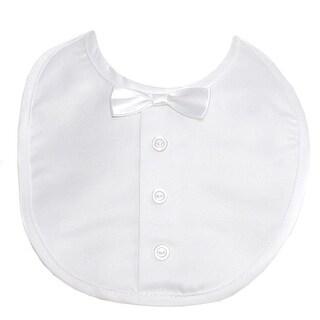 The Children's Hour White Bow Tie Baptismal Bib Boy Girl One Size