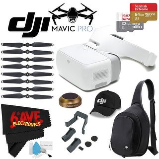 DJI Goggles FPV Headset + DJI Sling Bag for Mavic Pro and Goggles + Landing Gear Kit - Leg Extensions for DJI Mavic Bundle