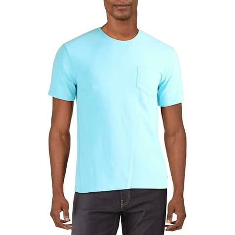 Lucky Brand Mens T-Shirts Blue Size Small S Crewneck Chest-Pocket Tee