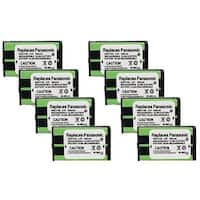 Replacement Panasonic HHR-P104A NiMH Cordless Phone Battery (8 Pack)