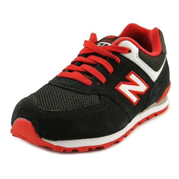 New Balance KL574 Toddler Round Toe Suede Black Running Shoe